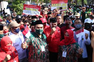 Cabup-cawabup beserta partai pengusung dan relawan ARTYS