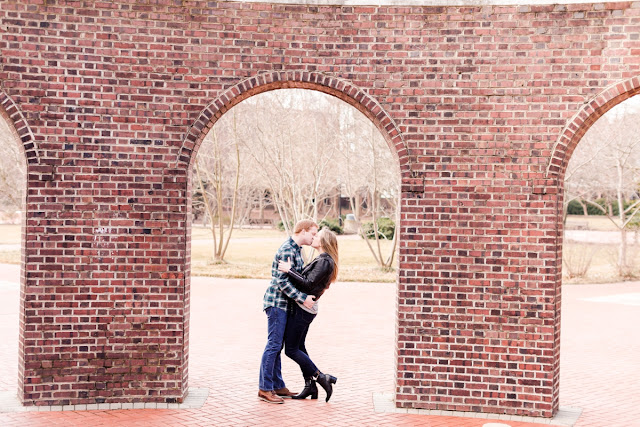 University of Delaware Kissing Arches - Engagement Session photographed by Maryland Wedding Photographer Heather Ryan Photography