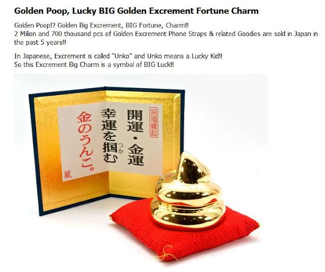 Joya en forma de excremento de oro