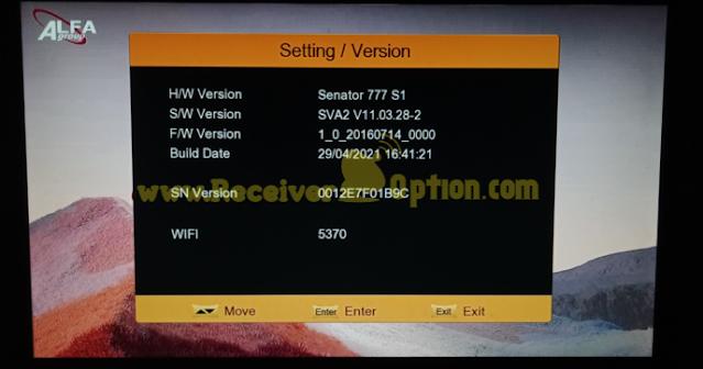 SENATOR 777 S1 1506TV 512 4M NEW SOFTWARE 29 APRIL 2021