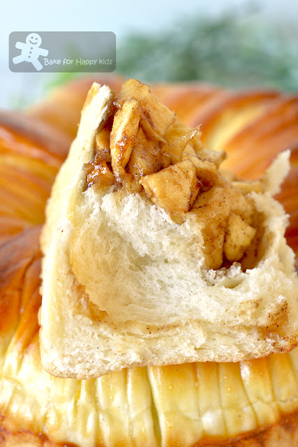 super soft apple cinnamon wool roll bread