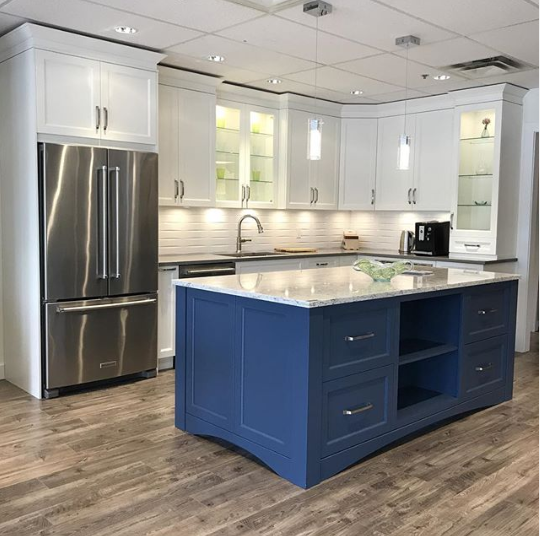 Van Deusen Blue Kitchen Island