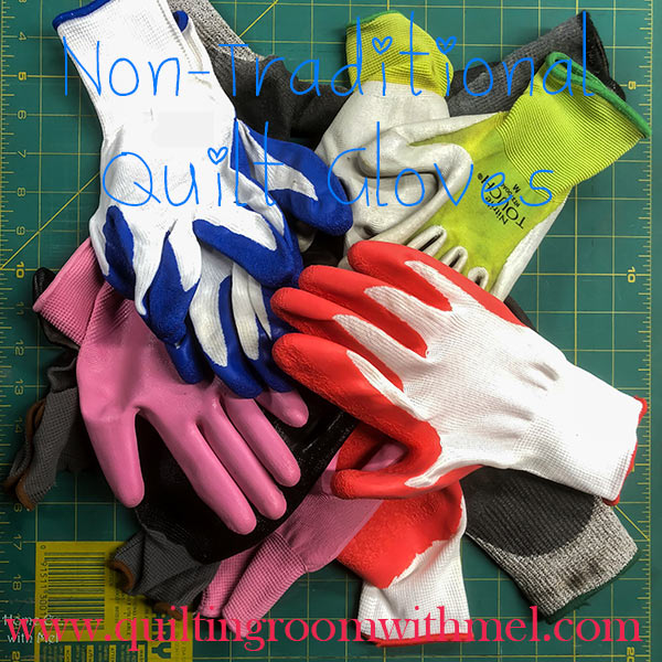 Learn what kind of gloves we use and why we use them in quilting.