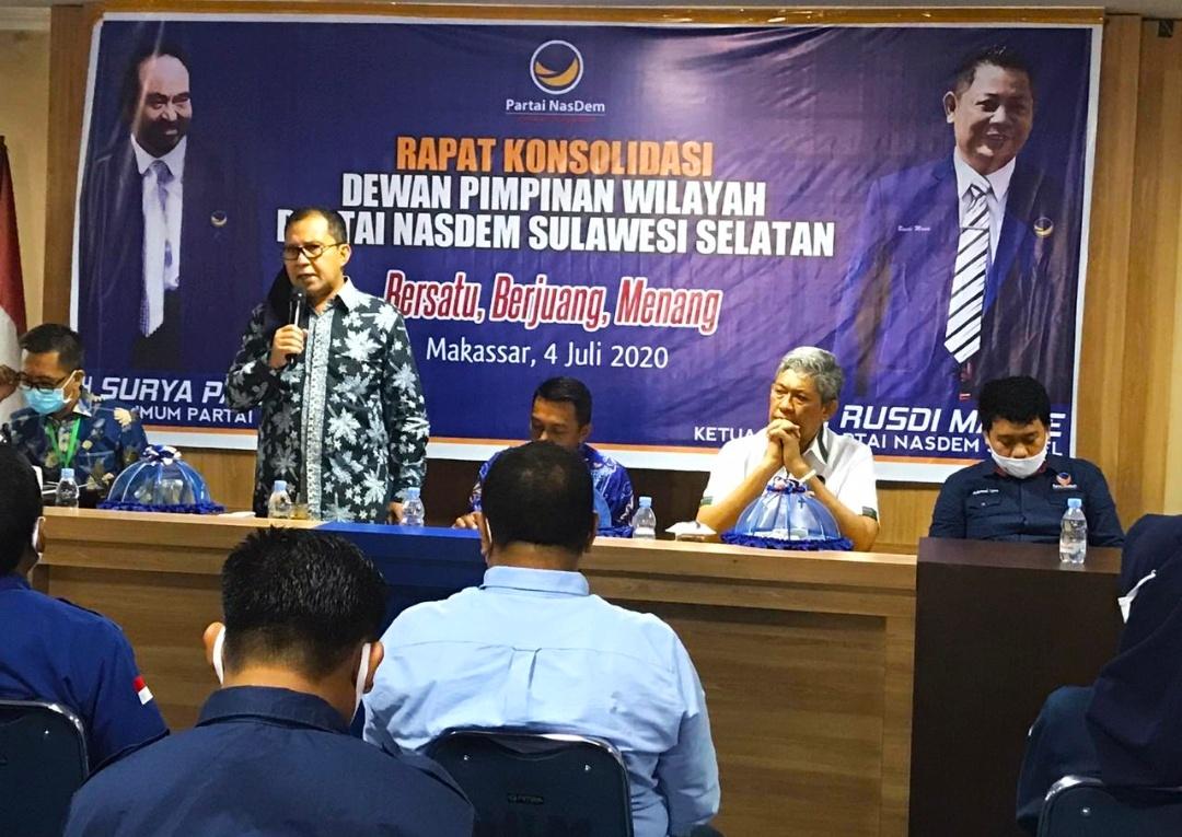 DPW Partai Nasdem Provinsi Sulawesi Selatan Rapat Konsolidasi