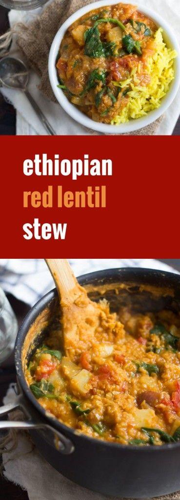 Spícy Ethíopían Lentíl Stew