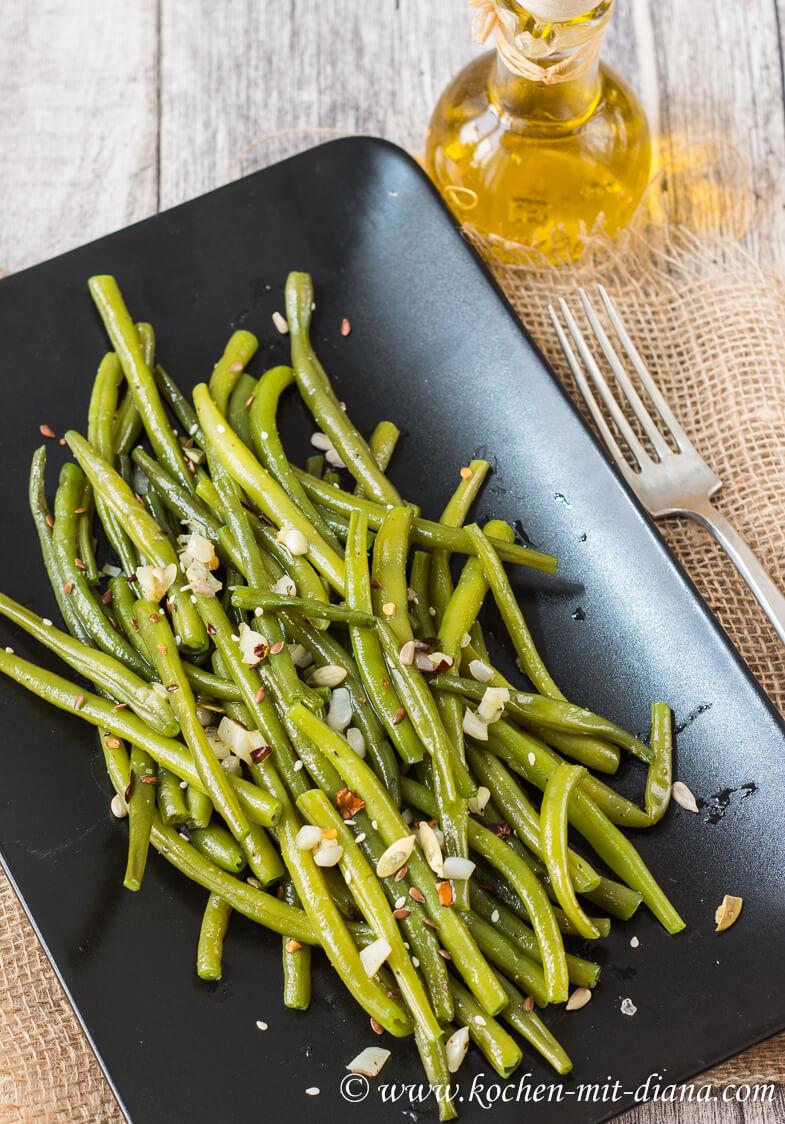 Grüne Bohnen mit Knoblauch