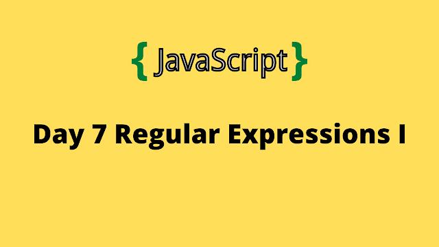 HackerRank Day 7: Regular Expressions I 10 days of javascript solution