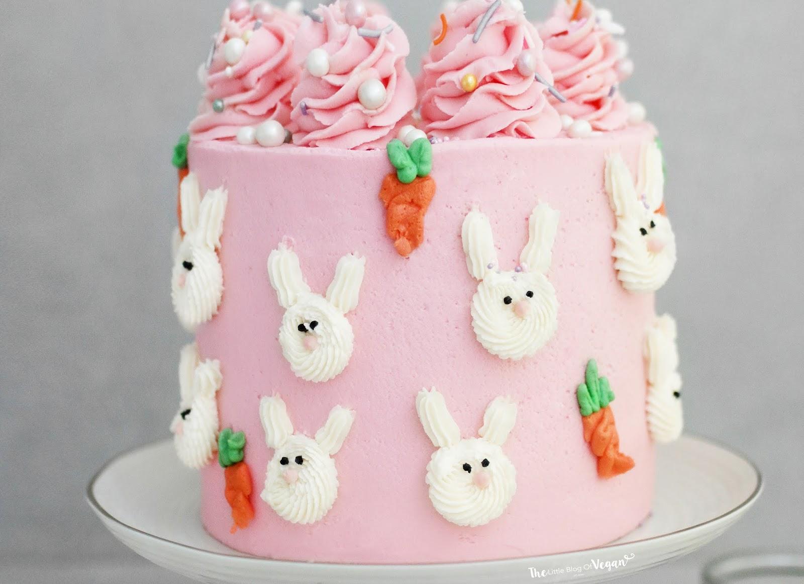 Easter Bunny Cake Recipe The Little Blog Of Vegan