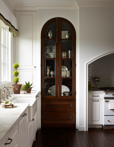 Peonies + Brass: Old-school China Cabinets In The Kitchen