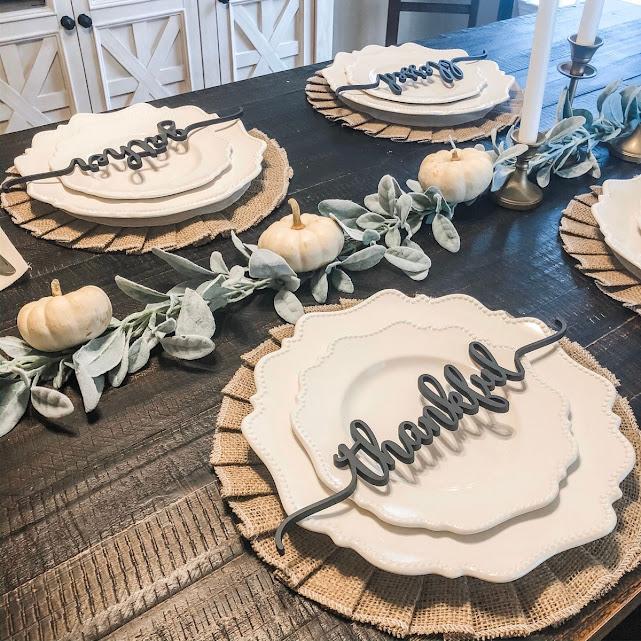 Plate with place setting-thanksgiving-holidays-celebrating-Philadelphia PA