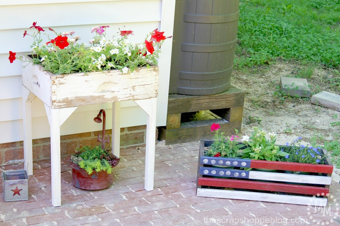 Old Drawer Flower Box with flowers