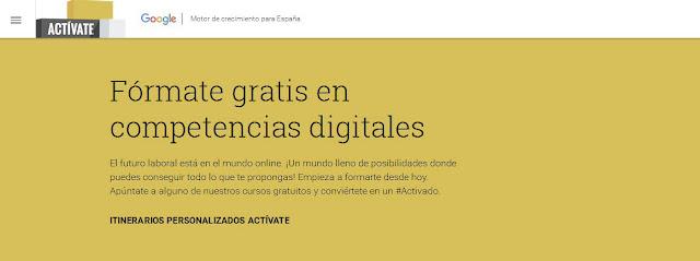 A través de la plataforma Actívate, Google respalda los cursos certificados ofrecidos gratuitamente