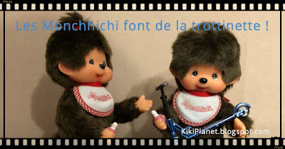 kiki monchhichi trottinette scooter cute kawai