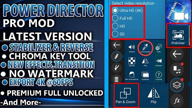 Download Powerdirector Pro Mod APK Terbaru 2020