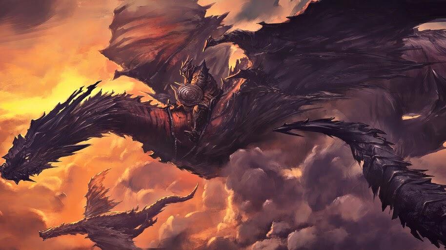 Dragon, Rider, Fantasy, 4K, #4.1028