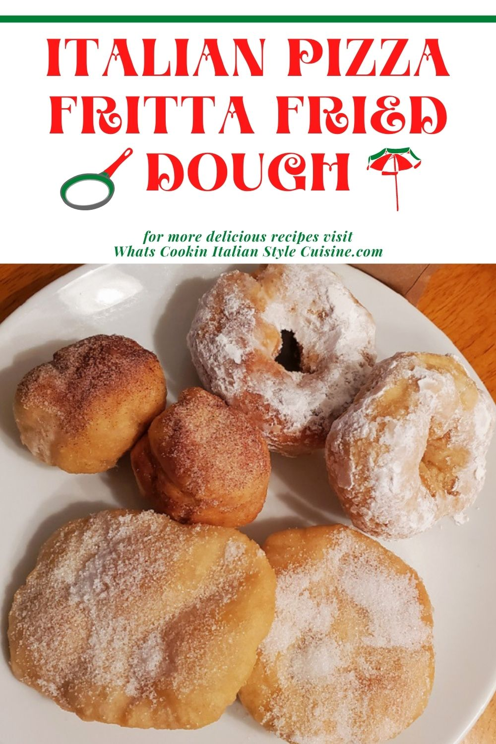 this is a pin for later plate of different shaped fried dough Italian Pizza fritta