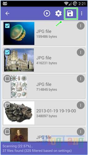 Mengembalikan file yang terhapus di Android 3