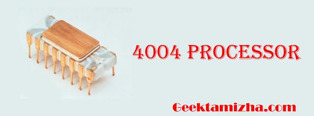 4004 processor - geektamizha