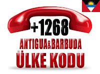 +1 268 Antigua ve Barbuda ülke telefon kodu