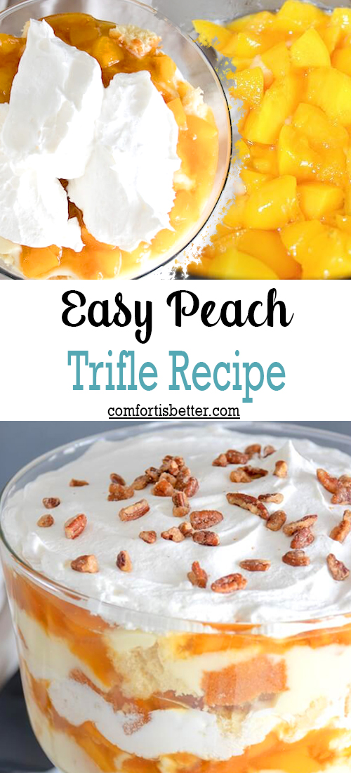 Easy Peach Trifle Recipe