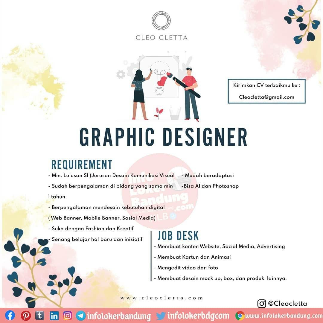 Lowongan Kerja Graphic Designer Cleo Cletta Bandung Oktober 2020