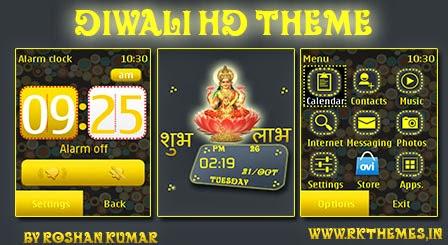 Happy Diwali Theme for Nokia 240x320, 320x240, 128x160,and
