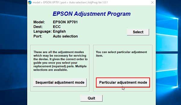 How to Reset Epson Expression Premium XP-701