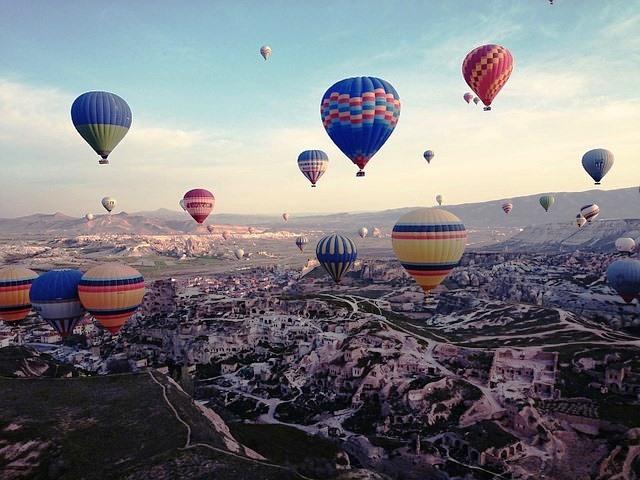 Um passeio de balão pela Capadócia