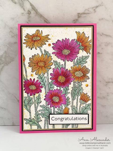 Congratulations - Daisy Garden Stamp