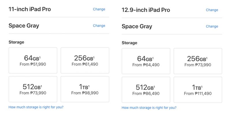 Apple iPad Pro 2018 pricing Philippines