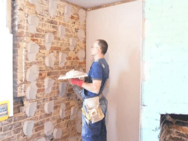 gesso cartonado na parede