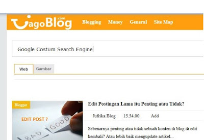 Cara Memasang Google Costum Search Engine