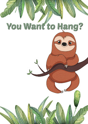 free printable sloth birthday invitations