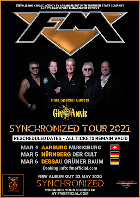 FM + Gin Annie - Switzerland + Germany tour dates - March 2021 - poster