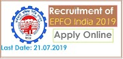 Central government jobs for graduates EPF India, Apply online at www.epfindia.gov.in