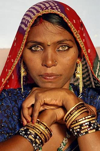 Indian Woman In Black Saree