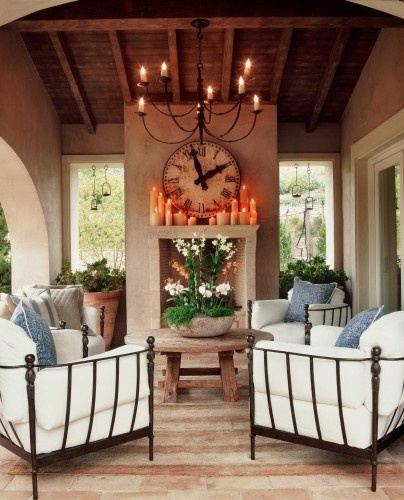 Candles above a mantel highlight any room's decor.