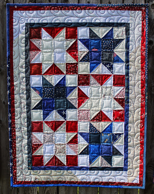 Firework Stars Quilt Free Tutorial designed by Katie Wiseman of Katies Quilts and Crafts