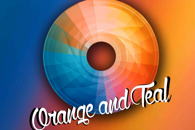 Orange teal