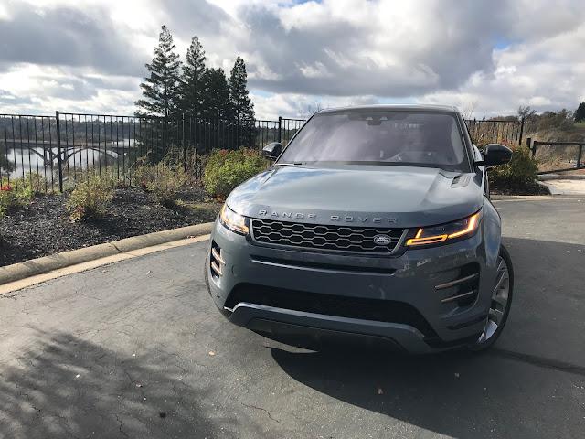 Front view of 2020 Range Rover Evoque
