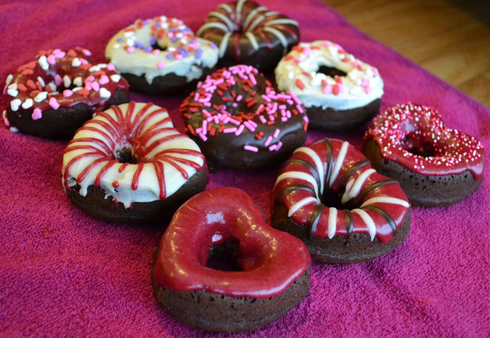Growing Up Veg Chocolate Cake Donuts With Raspberry And