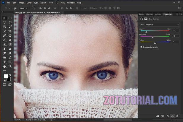 Cara Ganti Warna Mata menjadi Biru Dengan Photoshop