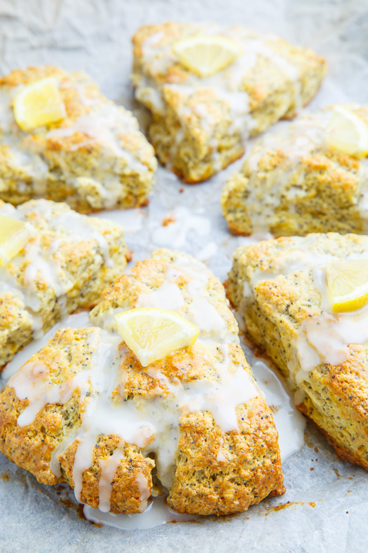 Lemon Poppy Seed Ricotta Scones