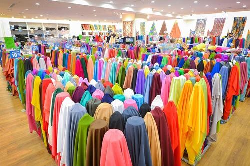 kamdar, kedai kain, beli baju raya, baju kurung raya 2016