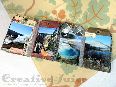 Lisa Hoel for Eileen Hull - Camping Tag mini album using new Sizzix Dies! #creativejuicefreshsqueezed #eileenhull #eileenhulldesigns #eileenhullsizzix #ehinspirationteam #eheducators #Sizzix #mymakingstory #diecutting