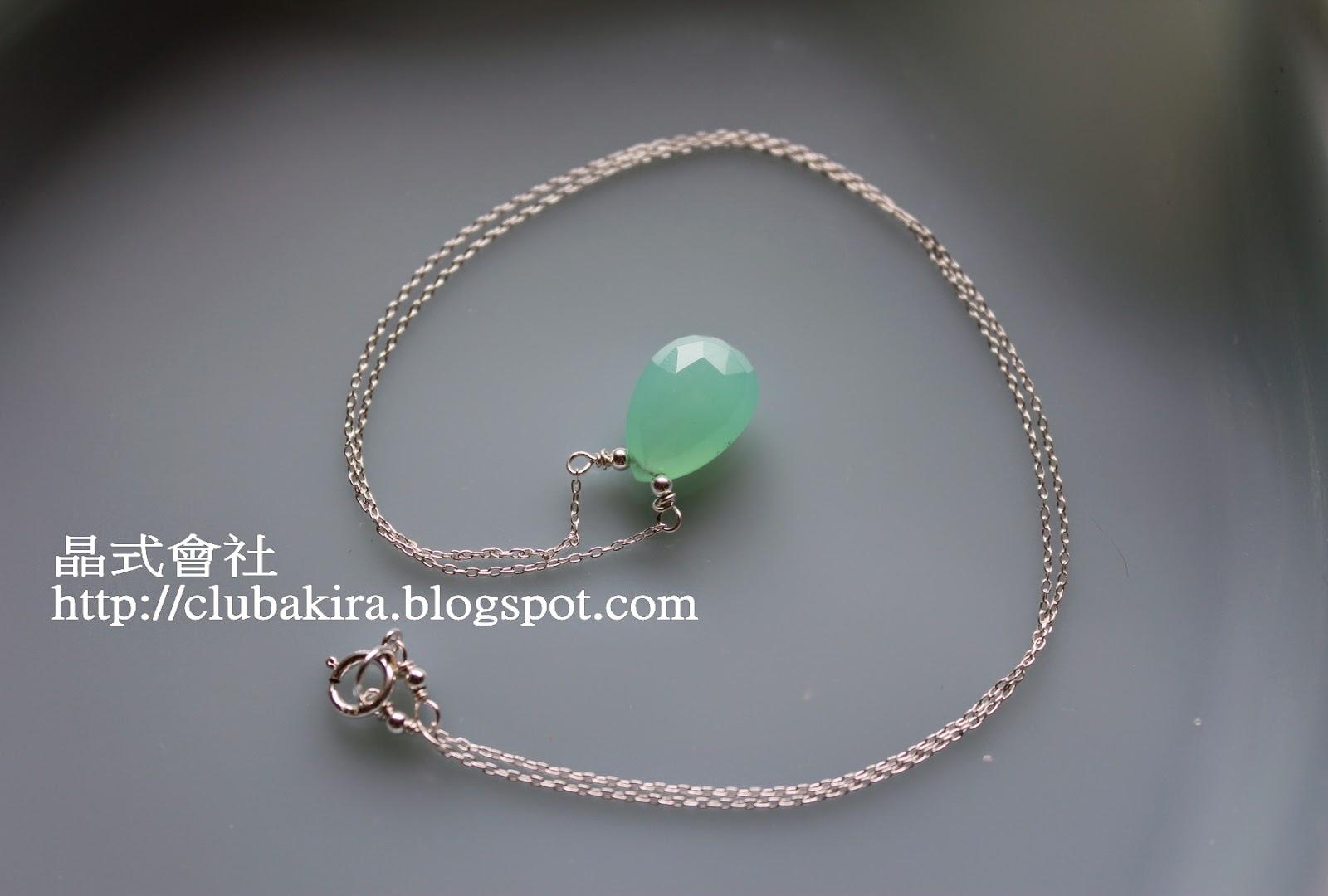 晶式會社: 綠意二帖:綠玉髓&葡萄石項鍊