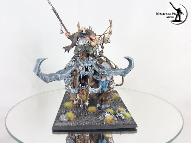 Warhammer Ogre Kingdoms Frostlord on Stonehorn