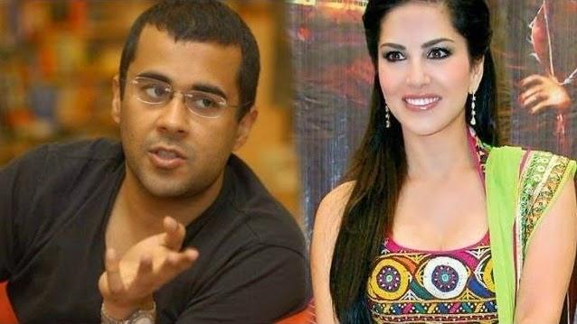 Chetan Bhagat & Sunny Leone