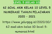 62 Soal AKM Kelas 10 Level 5 Numerasi Tahun Pelajaran 2020 - 2021