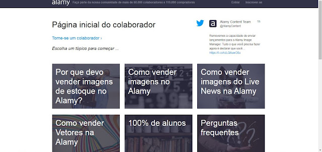 capa do site alamy